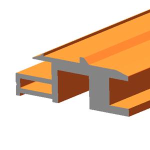 Terra Cotta Effect BIPV Roof Solar Panel Frame Bottom Rail