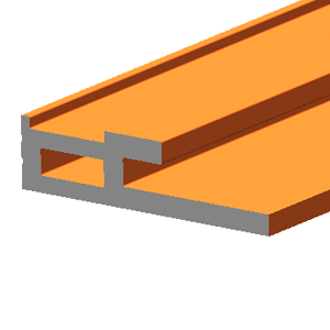 BIPV solar panel frame connection bar terra cotta effect