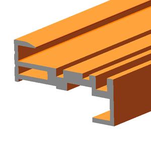 Terra Cotta Effect BIPV Roof Solar Panel Frame Top Rail