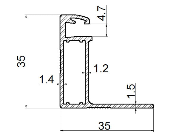 aluminum profile for solar panel drawing