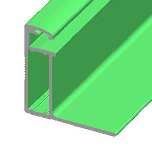 Aluminum profile for solar panel