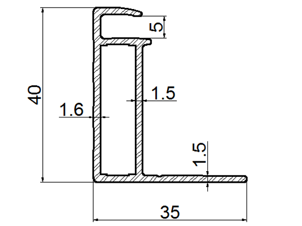 extruded aluminum solar panel frames drawing