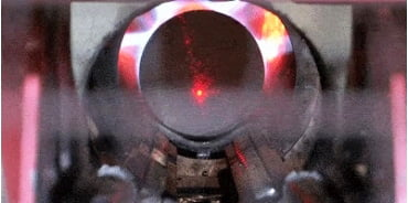 Aluminum billet is preheated before aluminum