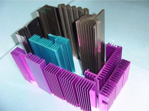 Aluminum heatsinks vs Copper heat sinks Surface color
