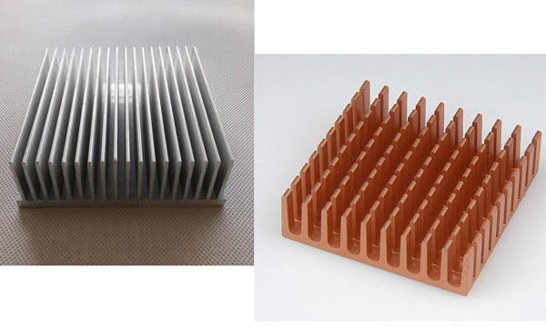 are aluminum heatsinks better then copper heat sinks