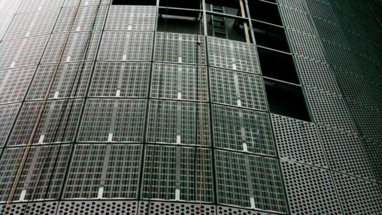 bipv solar panels facades