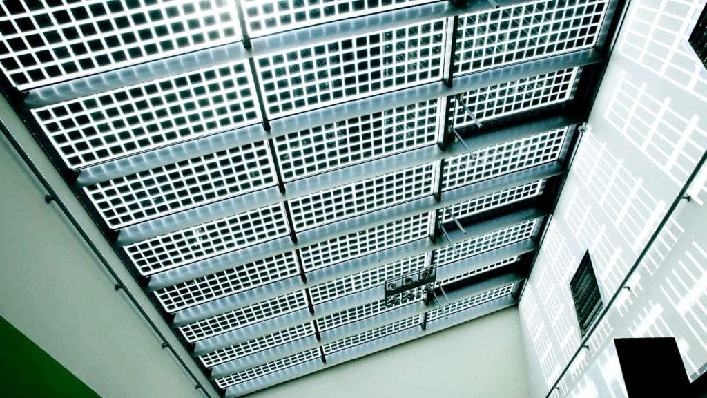 BIPV solar panels lucernarios
