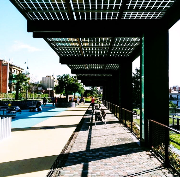 BIPV solar panels PERGOLES