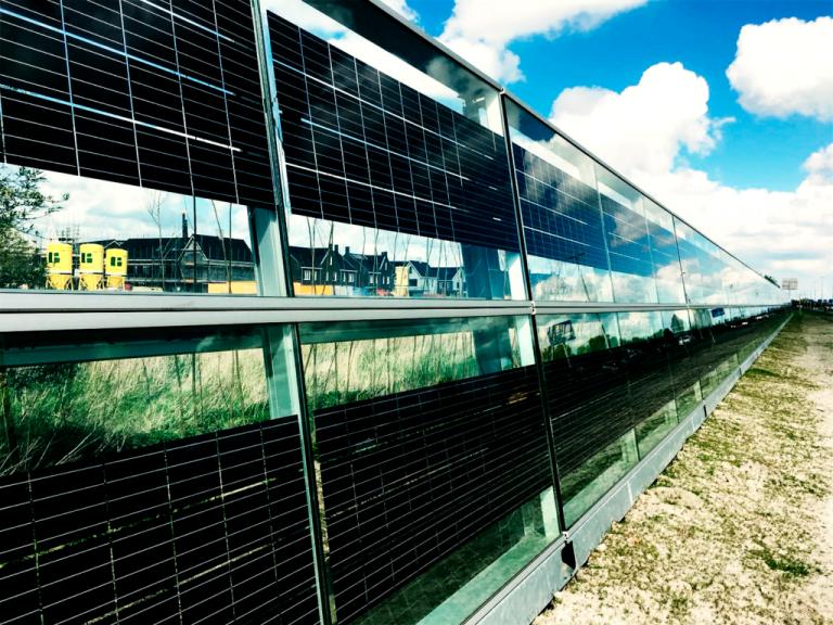 BIPV solar panel barrier